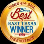 25th Annual Best of Texas Winner 2017 - Longview News-Journal - Features Choice Award
